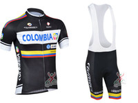 Wholesale 2013 colombia cycling jersey and Bib Short mens cycling clothing colombia cycling jersey rock racing team