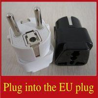 Wholesale 100PCS Plug Into The EU Plug Charger Sockets Connectors European Power Plug AC Power Supply