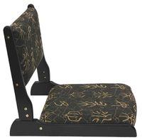 wood chinese furniture - Japanese Traditional Tatami Chairs Living Furniture Black Finish Chinese Letter Pad Seat Pad Folding Legs Zaisu Floor Tatami Chair