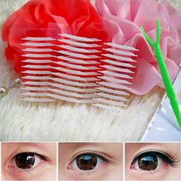 Wholesale Stealth Double Eyelid Stickers With Small Fork DIY Sided Adhesive Make Up Cosmetology Tools
