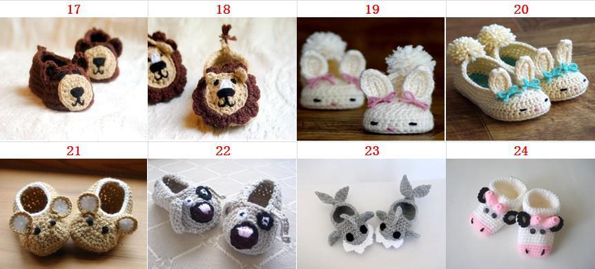 Discount Baby Crochet Shoes Boys Handmade Animal Pattern Shoes Girls ...