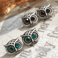 Wholesale Earrings Owl Stud Earrings Knot Alloy Earrings China Jewelry Mix Color Fashion Jewelry pair