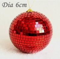 Wholesale Dia cm Multi Color Ornament Balls with Glass Pieces outside and Foam inside Party Accessories