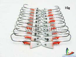Wholesale HOT Fishing hook Fishing lead head jig Barbed hook g pack