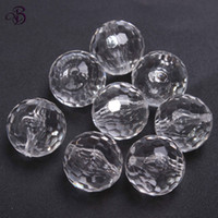 Wholesale 20mm Clear acrylic faceted beads Newest for jewelry