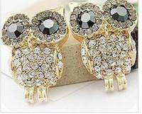 Wholesale Owl Earring diamond earring Fashion Jewelry ladies Earring