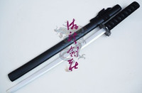 Wholesale Practice Japanese Samurai cosplay DRAGON Oak wood wooden SWORD W black Scabbard
