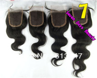 Wholesale Hair Brazilian Virgin Hair Lace Top Closure Body Wave quot x4 quot lace closure virgin remy