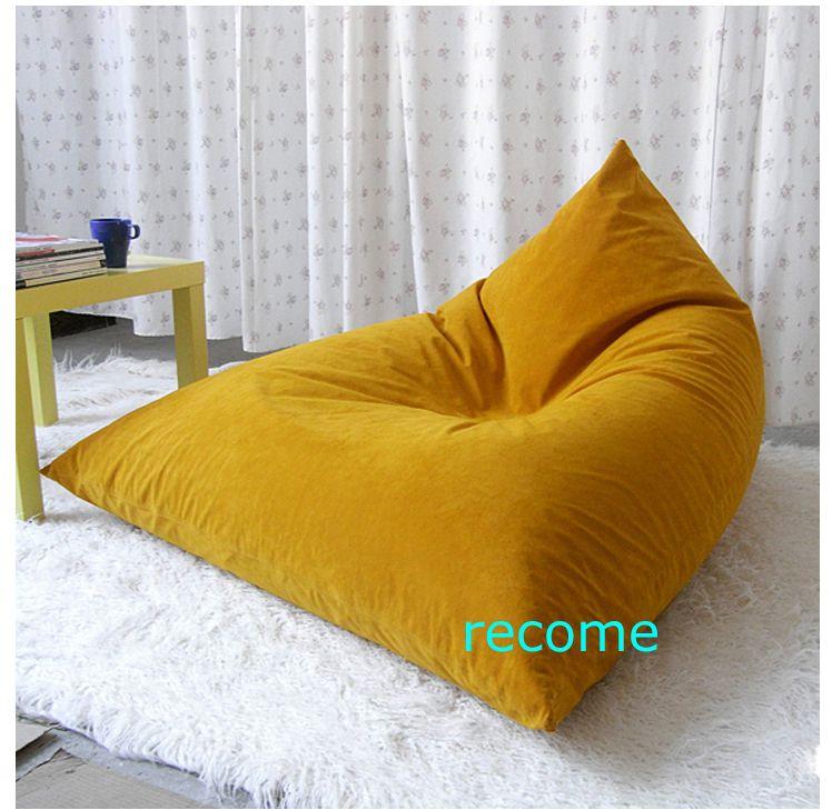 2017 Dessert Orange Pivot Living Room Bean Bag Chair Big