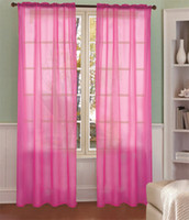 Wholesale Colorful Translucent Curtain Organza Gauze Curtains Fabric Drapes Home Textile inches
