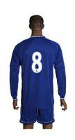 Cheap Made in China 2013 2014 club teams 8 blue long sleeve Soccer Jerseys Football Kits Emboridered Logo