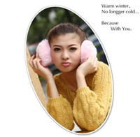 Wholesale 3pcs Pink color Winter Plush Warm Earmuffs Ear Muffs Earwarmers Earlap Earcap Earcover Headband