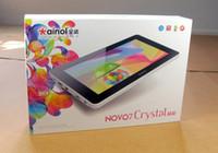 Wholesale 7 Dual Core Tablet PC Ainol Novo Crystal Android Amlogic GHz GB GB WiFi Webcam External G
