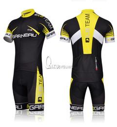 Wholesale NEW lgteam cycling jersey LGTEAM yellow short sleeve and cycling bib short Garneau cycling clothing Bib Short Kit