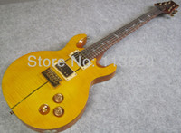 Wholesale Double Cut Way Electric Guitar with Flamed Maple Top Guitar Santana