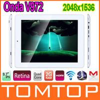 Wholesale tablet pc Onda V972 Quad Core inch IPS Retina Screen Allwinner A31 GB RAM x1536 Android MP Camera GB HDMI WiFi Tablet PC