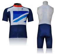 Wholesale Great Britain Jersey Cycling New GB TEAM Blue Shorts Sleeve Cycling wear and bib shorts sky Gb cycling clothing