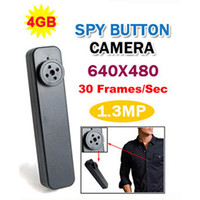 Wholesale Black Button Camera Hidden Pinhole Camera Mini DV DVR Recorder GB Camcorder MYY4341