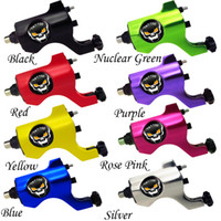 skull tattoo gun - Pro Skull Rotary Tattoo Machine Gun Shader Liner RCA Jack U Pick Color
