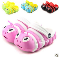 Wholesale 1 pair kids caterpillar child baby hole shoes summer slippers for m yr sandals