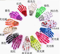 Wholesale 2013 new not pair Fashion skeleton claws skull hand hair clip hairpin Zombie Punk Horror hairwear hairpin bobby pin