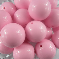 Wholesale 20mm Fashion solid pink chunky necklace beads