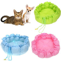 Wholesale 10 Pet Puppy Nest Dog Bed Dog Mat Kennel PP Cotton Nest Warm House Cozy Pumpkin Mat