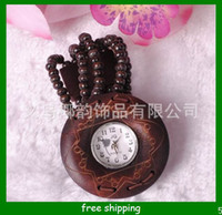 Wholesale Hot Sale Fashion Children Mahogany Watch Retro technology of peach wood engraving