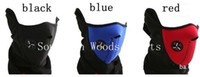 Wholesale 5pcs a cycling mountain road bike bicycle Face mask warming Motorcycle Ski Snowboard Face mask Black red blue