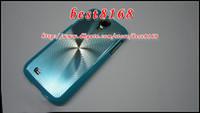 Wholesale Vinyl Metallic CD grain Sunflower wave bling metal aluminum alloy hard case shiny classic skin cover cases for Samsung galaxy S4 I9500