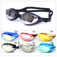 Wholesale New Electric plating antifogging water proof ultraviolet preventing swimming goggles
