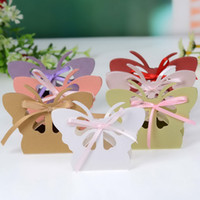 Favor Boxes boxes for candy - 6Colors Laser Cut Butterfly Paper Candy Chocolate Favor Box Boxes For Wedding