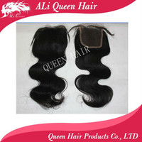 Wholesale Queen hair products closure brazilian hair body wave Brazilian Hair Lace Top Closure quot quot body wav