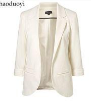Wholesale 3 roll sleeve blazer suit candy color formal suit female male casual suit