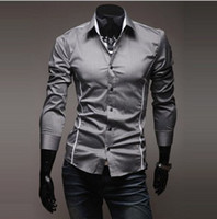 Wholesale 2013 hot sale New Mens Shirts Casual Slim Fit Stylish Mens Dress Shirts