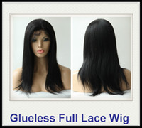 Wholesale RaniHair Real Images Brazilian Remy Human Hair Glueless Full Lacewigs YAKI Straight Jet Black Inch Quality Assurance B003