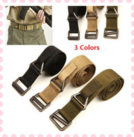 Wholesale 3 Colors Buckle Military Thicker Waistband Waist Canvas Tactical Belt