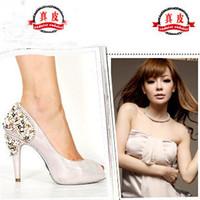 Wholesale 2013 new European and American nightclub round women s singles shoes waterproof heels shoes bridal s