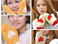 Wholesale 10 Love fashion gloves Miexd colors gloves