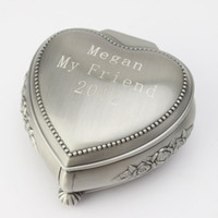Wholesale Personalized Lovely Decorative Pattern Tin Alloy Women s Jewelry Box