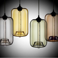 Wholesale Modern Art Niche Glass Pendant Lights Vintage bulb Dining Room Bar Pendant Light Italy Fixtures