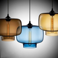 Wholesale Modern Art Niche Glass Pendant Lamp Vintage bulb Dining Room Bar Pendant Light Italy Creative Design