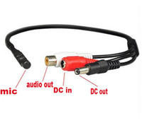 Wholesale Mini CCTV Microphone for Security Camera Audio Surveillance DVR CCTV Mic Audio Cable Audio Receiver