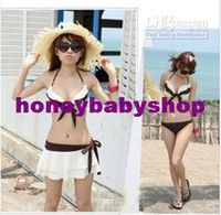 Women Bikinis Dot Steel Gathered Sexy Swimwear Bikini Beach Skirt Style M to XL Cloth Fabrics Lady Summer YJ12040604
