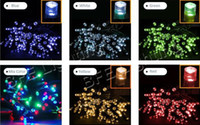 Wholesale 10m holiday strings christmas led tree lighting xmas fairy string lights colors new year decorations garland led