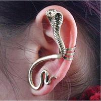 Wholesale vintage punk style Fashion Snake Shape Earrings Clip Ear Cuff Charm Earrings