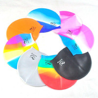 Wholesale Comfortably Silicone Bathing Cap Waterproof Durable Swim Caps Unisex Hats