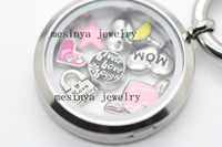 Wholesale 18 designs floating charms for memory living glass locket no glass locket this order
