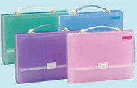 Wholesale Plastic A4 Paper Sheet Document File Storage Expanding Bag Case Folder w Handle Label Compartment office Stationery filing supply