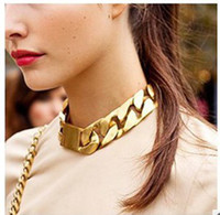 Wholesale Cheap Animal Collars - Womens Plated Gold Chain Necklaces Fashion Personalized Alloy Collar Necklace 12pcs Lot The Cheap Hot Sale Trial Order Free Shipping